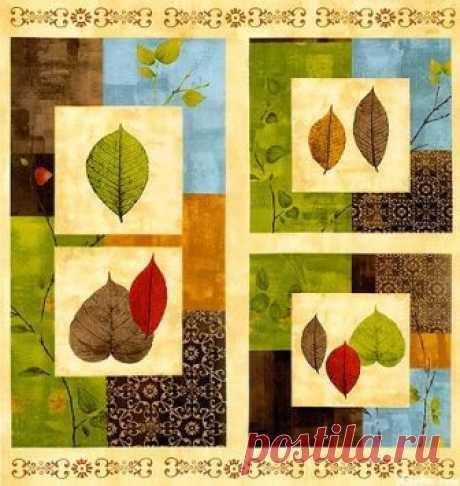 Панель с листьями 1810-127W - Листопад <- WILMINGTON PRINTS <- Ткани - Каталог | StitchCraft