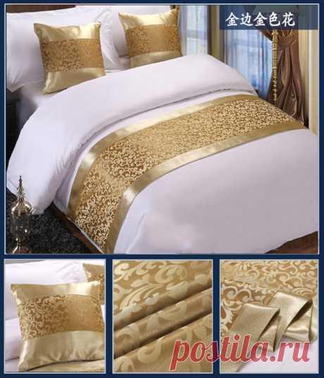 RAYUAN Золотое цветочное покрывало кровать бегун пледы постельные принадлежности Одиночная Королева Король Покрывало Полотенце домашние украшения для гостиницы Покрывало    АлиЭкспресс