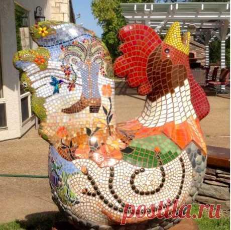 Декорирование скульптуры мозаикой