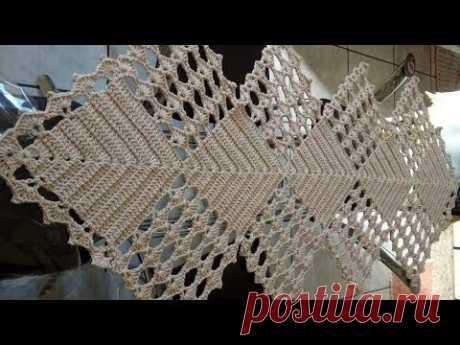 Tığişi Örgü Runner Masa Örtüsü Modelleri & Crochet