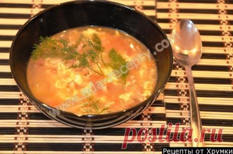 Сырный суп с сухариками и плавленым сыром