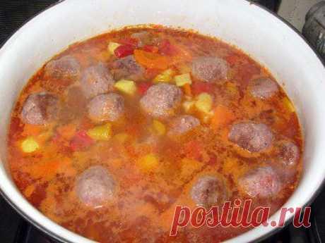 Густой суп с кабачками и фрикадельками | Готовим вместе