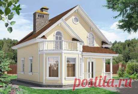 Каркасный дом 8,5х9,7 148м2 с мансардой и балконом