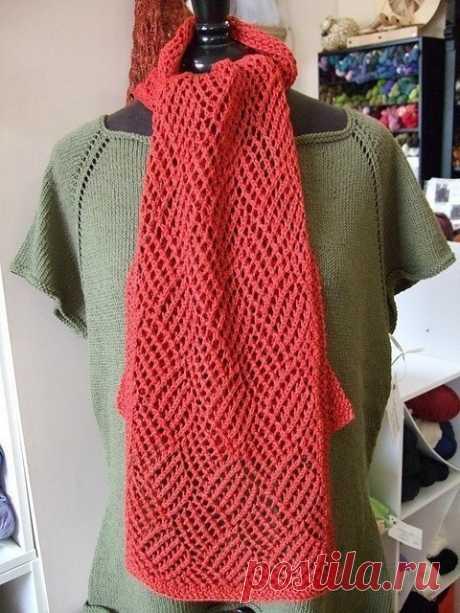 Ажурный шарф крючком. Схема узора. / Вязаные идеи, идеи для вязания