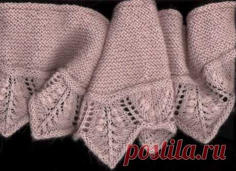 Интересная идея для вязаного шарфика