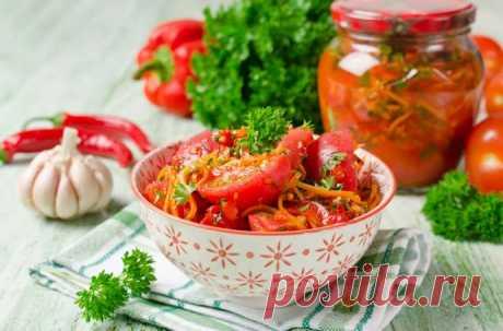 Помидоры по-корейски на зиму в банках — самые вкусные рецепты Самые вкусные помидоры по-корейски на зиму. Пальчики оближешь! Рецепты приготовления помидоров по-корейски в банках со стерилизацией.