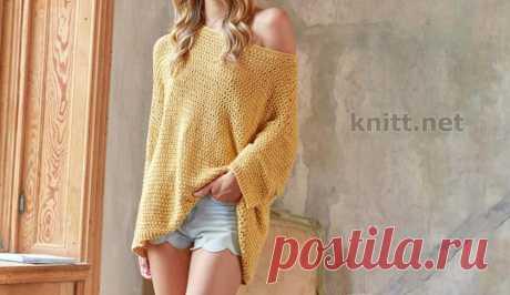 Вязаный пуловер Oversize Вязаный пуловер Oversize - олицетворение свободного стиля в одежде. Мгновенное преображение гарантируем. Яркий горчичный цвет символизирует солнце.