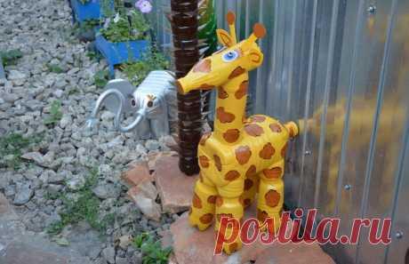 Жираф из пластиковых бутылок своими руками: пошаговая инструкция для начинающих с фото