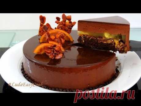 MUSSOVYY cake ORANGE and dark chocolate with mirror glaze - Bánh Kem Socola Bánh KemMousse - YouTube