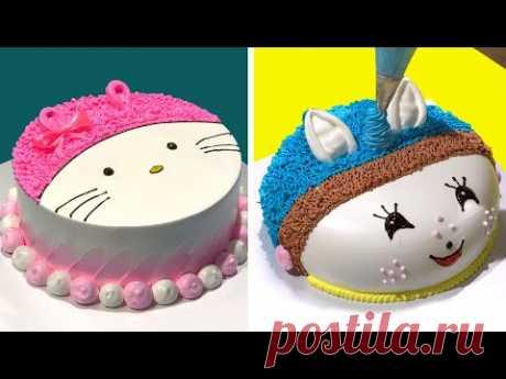 Fun Hello Kitty Cake Decorating ideas for Birthday Girls   Perfect Design Cake Tutorials for Newbie