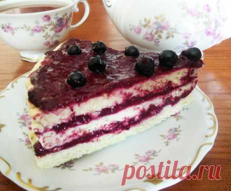 Торт слоеный со смородиновым курдом