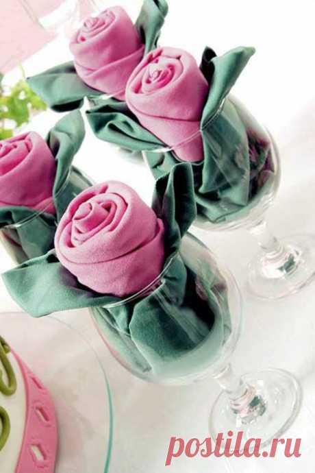 Розы из салфеток - Простые рецепты Овкусе.ру