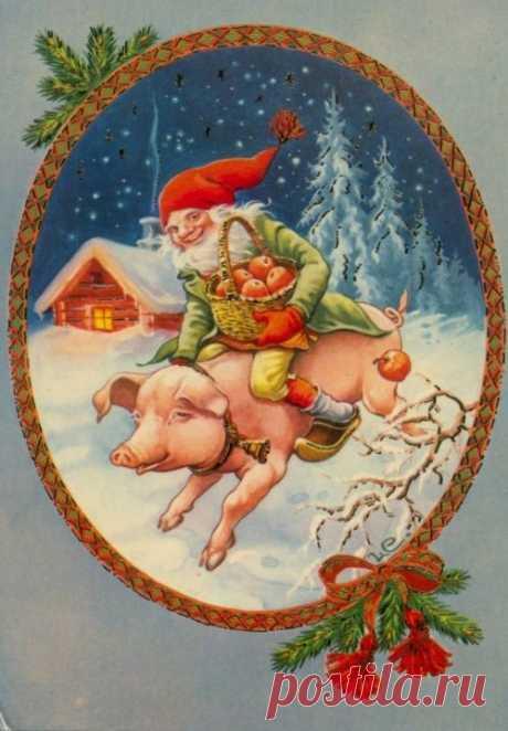 Трудолюбивые и весёлые - новогодние гномики!   #МУД_для_декупажа