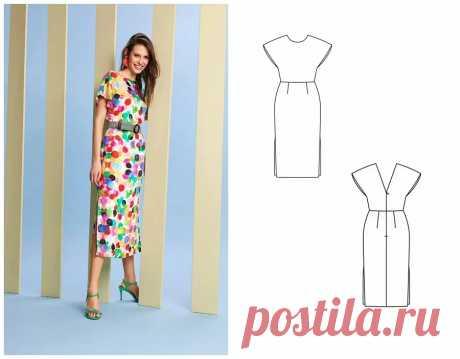 Выкройка месяца: элегантное платье на любой случай — BurdaStyle.ru