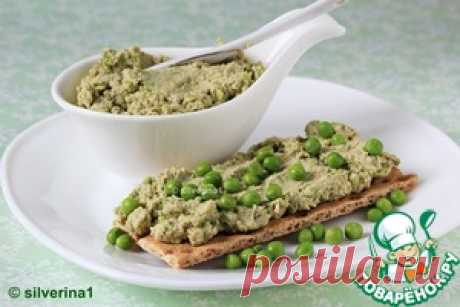 Egg paste with peas and nuts - the culinary recipe