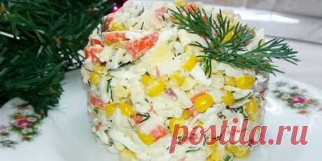10 интересных салатов с крабовыми палочками - Лайфхакер