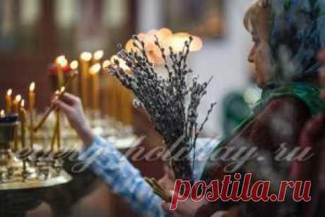 Когда освящают вербу в церкви
