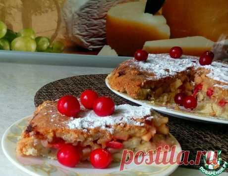 Яблочно-банановый крамбл с вишней – кулинарный рецепт