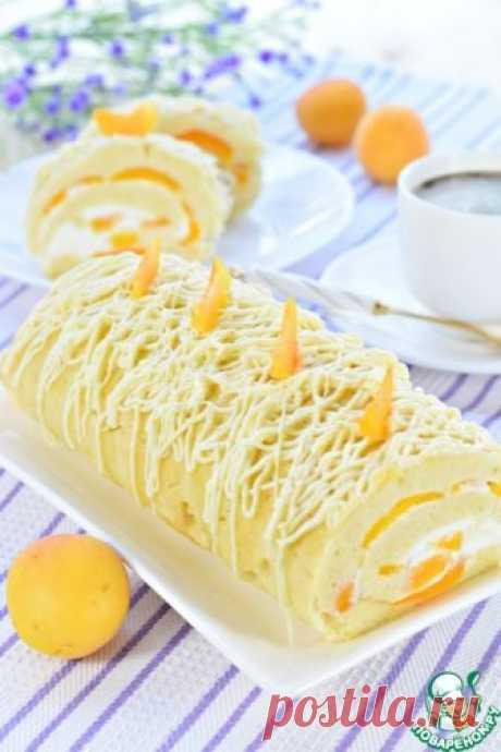 Рулет с абрикосами – кулинарный рецепт