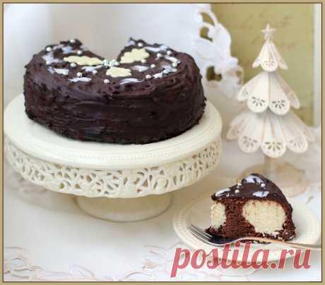 Шоколадный торт с сюрпризом.