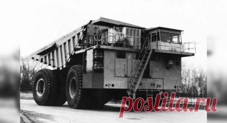 БелАЗ-75501 — самый крупный самосвал в истории СССР