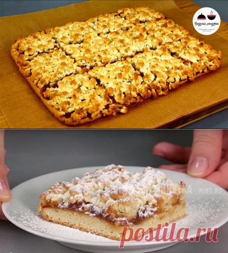 Знаменитый тёртый пирог: меняя начинки, можно готовить хоть каждый день | Кухня наизнанку | Яндекс Дзен
