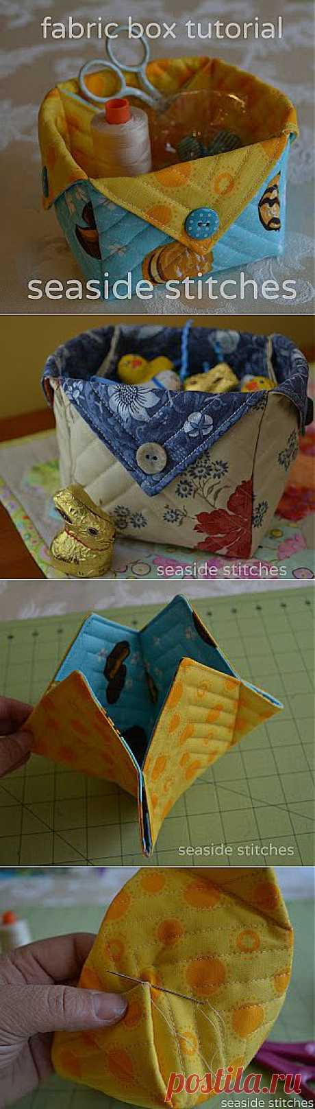Коробочка для хранения ниток удобная вещь для хозяек.).