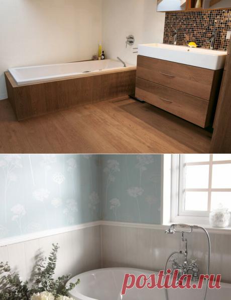 Надоела плитка. Чем еще можно отделывать ванную комнату, разбираемся | Гуд ворк 🛠 | Яндекс Дзен