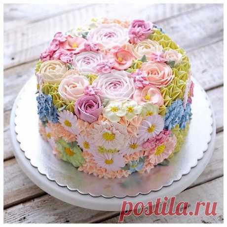 Торт с весенним настроением