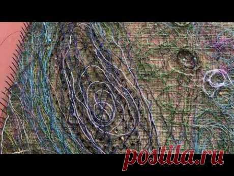 Летняя кофточка из нитей в технике Крейзи вул  Crazy wool часть2