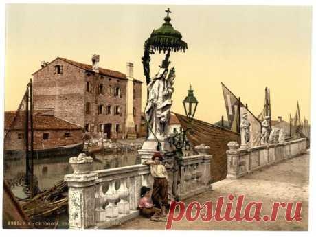 100 фотохромных открыток Венеции конца 19 века: великолепные дворцы, каналы, мосты и соборы в цвете Фотохромы, передающие атмосферу конца 19-го века в одном из самых популярных и воспетых европейских городов.