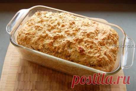 Вкусный и пышный бездрожжевой хлеб на пиве с сыром и укропом | FEMIANA