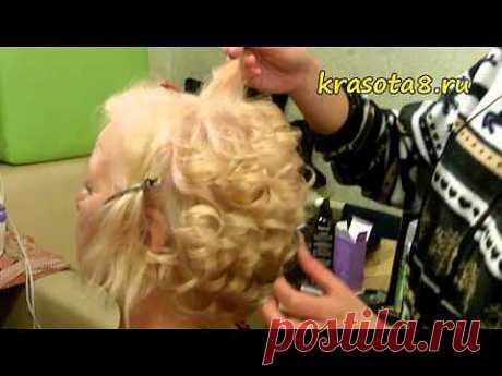 ▶ Вечерняя укладка коротких волос - YouTube