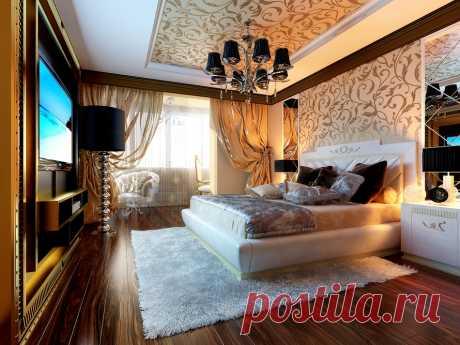 Современная спальня в интерьере www.remontr99.ru