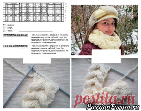 Снуд косичкой для внучки - запись пользователя Nataliya55 (Наталия) в сообществе Вязание спицами в категории Вязание спицами для детей