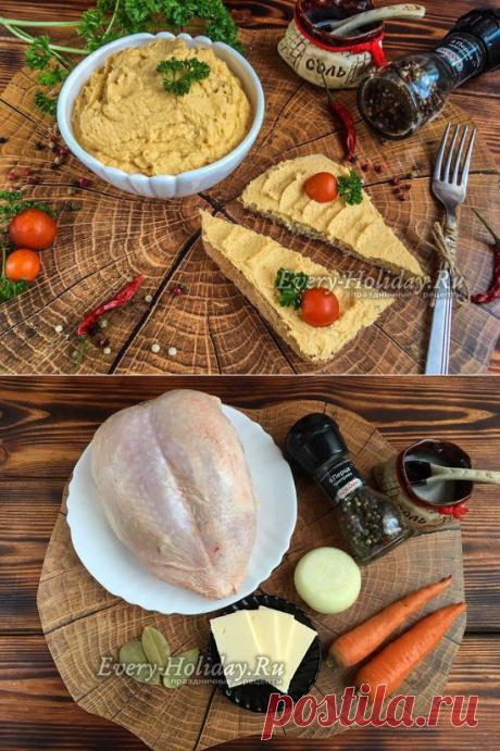 Паштет из куриной грудки в домашних условиях, с морковью и луком - рецепт с фото пошагово