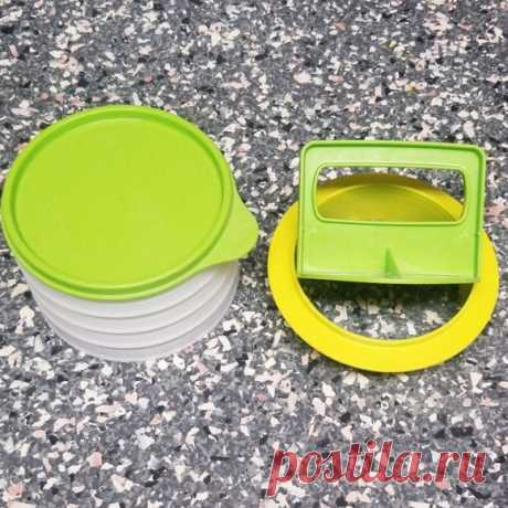 Tupperware Burger Press Shop wghoward's closet or find the perfect look from millions of stylists. Fast shipping and buyer protection. Has some dings, not perfect but works great.