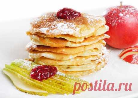 Яблочно-грушевые оладьи от Юлии Высоцкой - Рецепты. Кулинарные рецепты блюд с фото - рецепты салатов, первые и вторые блюда, рецепты выпечки, десерты и закуски - IVONA - bigmir)net - IVONA bigmir)net