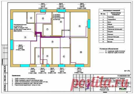 Проект отопления частного дома, пример 1432