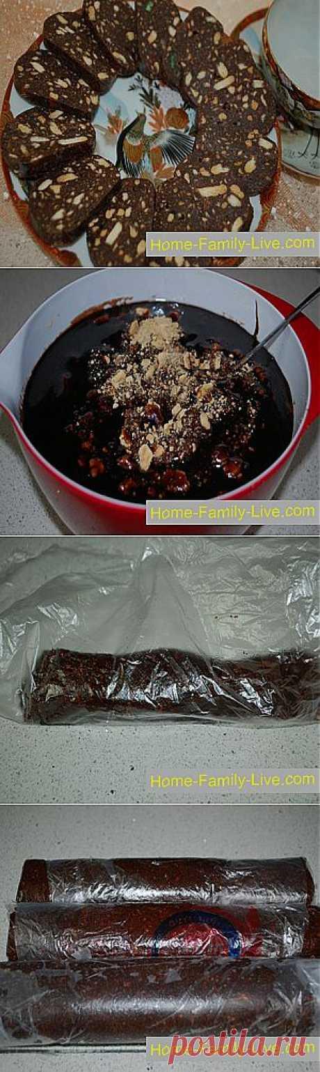 Кулинарные рецепты Шоколадная колбаса » Кулинарные рецепты