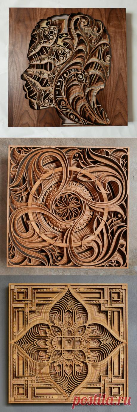Mногослойные деревянные картины Gabriel Schama