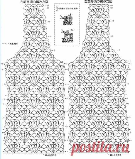 Большая подборка узоров для вязания летних топов — DIYIdeas