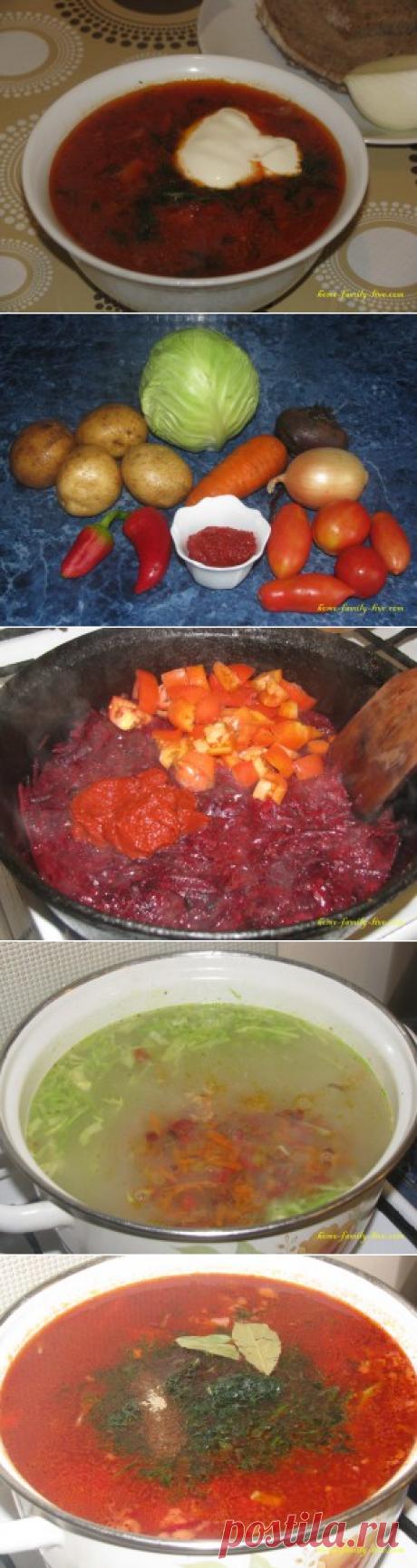 Борщ со свеклой - пошаговый рецепт с подробными фотоКулинарные рецепты