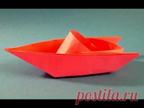 Как сделать катер из бумаги. Оригами катер из бумаги - Origami boat