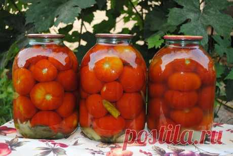 Закатываем помидоры без уксуса | Полезные советы домохозяйкам