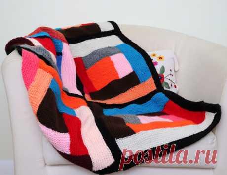 Создать С Мамой: Бревенчатое Вязаное Одеяло