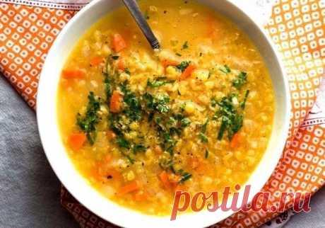 Полезный и вкусный суп из чечевицы