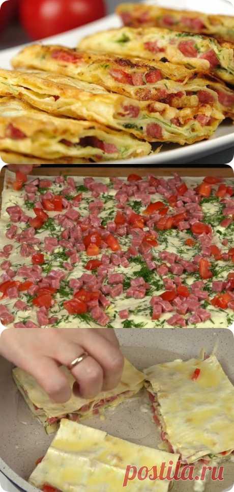 Невероятно вкусная закуска из лаваша - womanlifeclub.ru