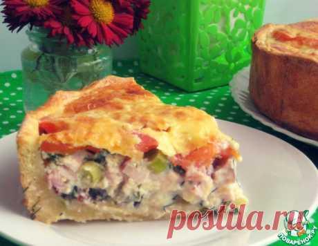 Пирог с баклажанами, курицей и помидорами – кулинарный рецепт