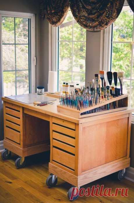 Стол для художника Модная одежда и дизайн интерьера своими руками